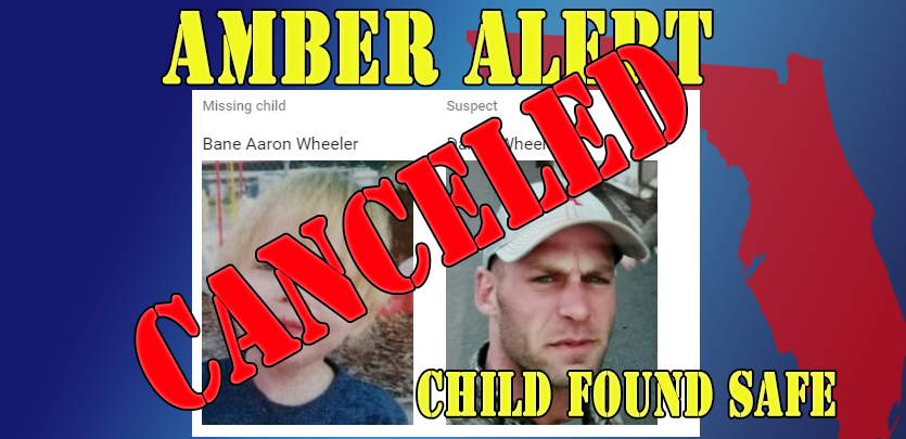 Amber Alert Canceled for Florida 2 yr old Child