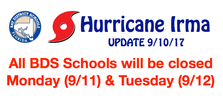 """This is an update from Bay District Schools via Facebook. """""""