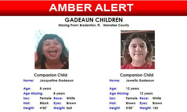 Amber Alert – Gadeaun Children – Missing from Brandenton, Florida