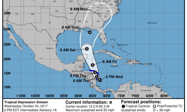 Tropical Depression Sixteen Intermediate Advisory Number 1A