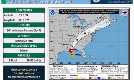Hurricane Nate 1pm cdt update