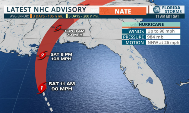 Hurricane Nate expected to be Cat 2 at landfall