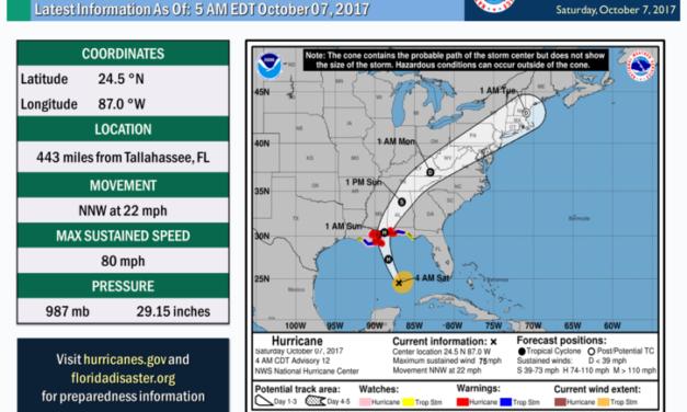 Hurricane Nate 5am Advisory 10.7.17