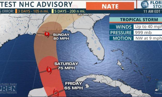 Tropical Storm Nate 10am cdt 10.5.17