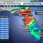 All-day Rain Likely in Parts of Florida Thanksgiving Day